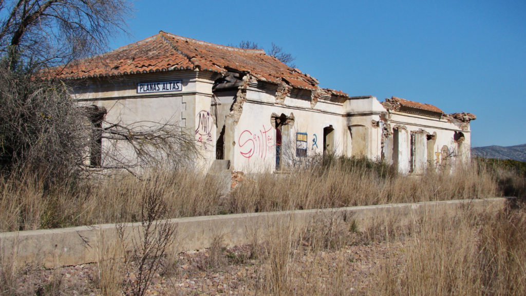 Foto 4. Aspecte que presenta l'edifici de l'antiga dependència de Planes Altes. Autor: Adrià Pàmies. 02/2014.